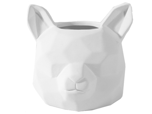 Faceted Fox Planter