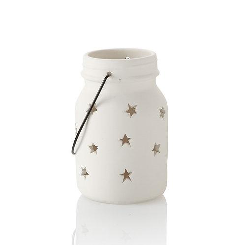 Jar Star Lantern W/ Handle