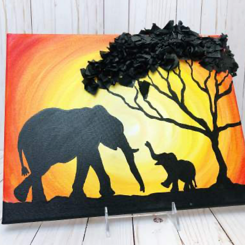 Momma Safari Scene Canvas