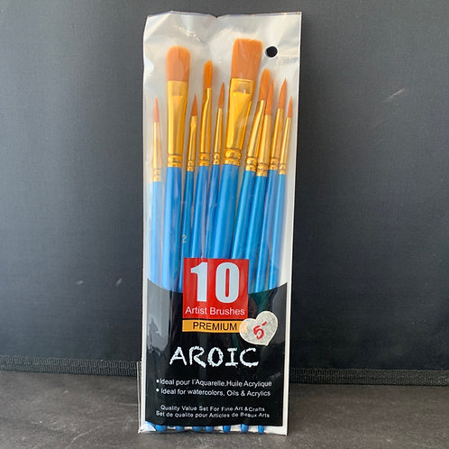 10 Pack Artist Brushes