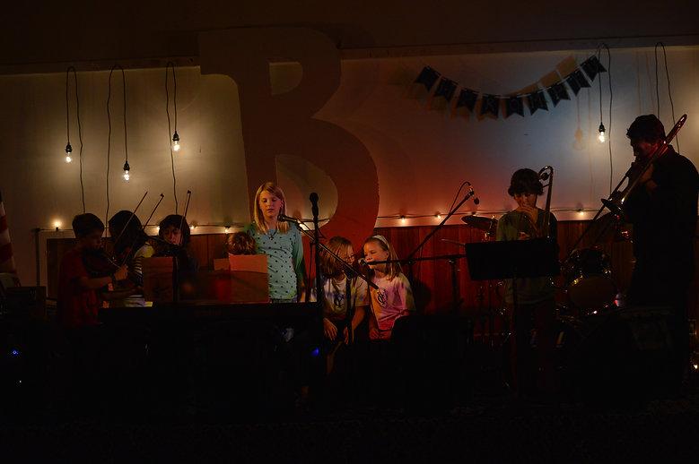 Ben Birkbeck Benjamin leads student ensemble at Studio B Impromptu Yarmouth Maine