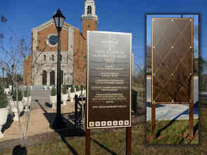 Cathedral Bronze Entrance / Information Plaques