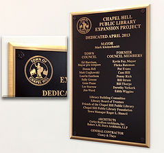 cast bronze and aluminum plaques