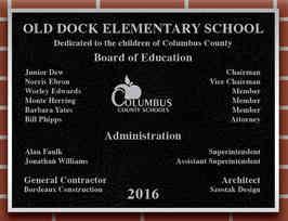 Elementary School Dedication Plaque