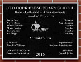 Elementary School Dedication Plaque