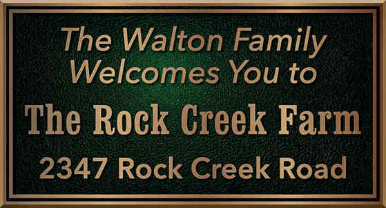 Custom Family Farm Address Plaque