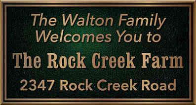 Custom Family Farm Address Plaque