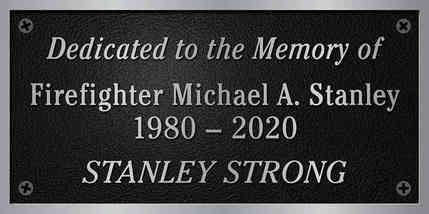 Firefighter Memorial Plaque