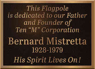 Custom Bronze Flagpole Dedication Plaque