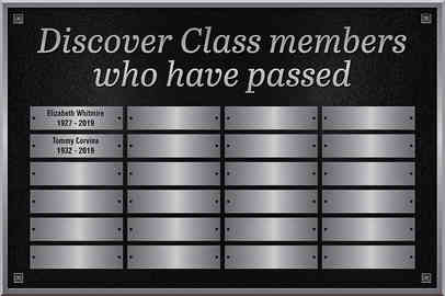 Memorial Plaque for Deceased Church Members