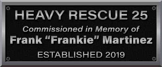 Firefighter Memorial Dedication Plaque