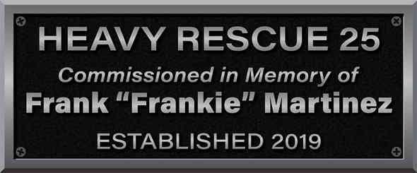 Firefighter Memorial Dedication Plaque