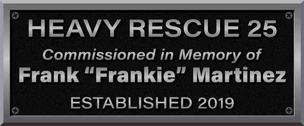 Firefighter Memorial Fire Truck Commission Plaque