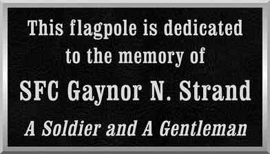 Military Flagpole Dedication Plaque