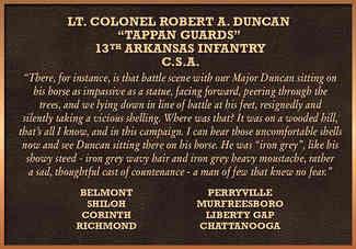 Civil War Military Recognition Plaque