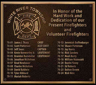 Firefighter Recognition Plaque