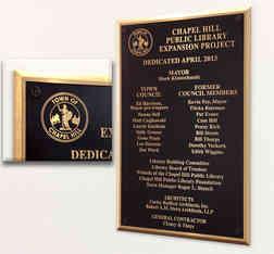 Public Library Building Dedication Wall Plaque