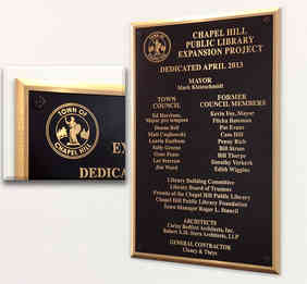 Public Library Building Dedication Wall Plaque
