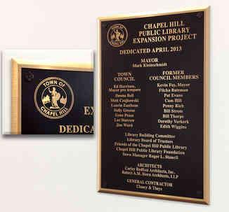 Public Library Dedication Wall Plaque