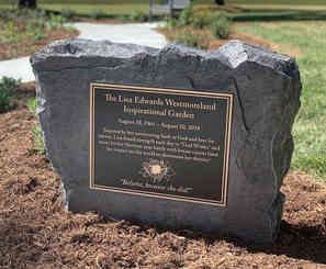 Garden Dedication Plaque