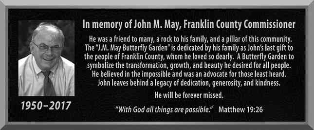 Butterfly Garden Memorial Plaque