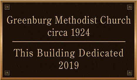 Church Building Dedication Plaque