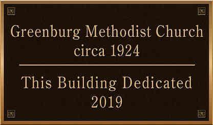 Church Building Dedication Plaque