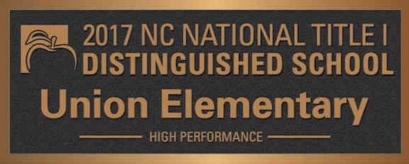 Distinguished School Award Plaque