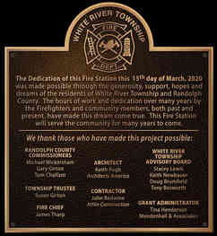 Fire Station Dedication Plaque with Maltese Cross