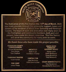 Fire Station Dedication Plaque