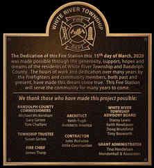 Fire Station Dedication Plaque