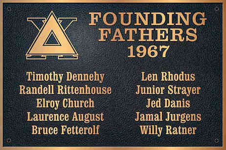 College Fraternity Founding Fathers Plaque