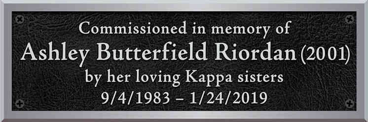 Sorority Memorial Commission Plaque