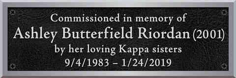Sorority Memorial Commission Plaque