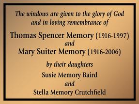 Bronze Dedication Memorial Church Plaque