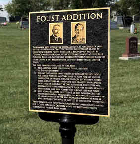 Bronze Historic Cemetery Marker