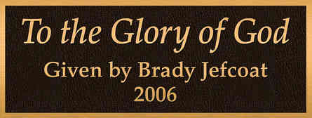 """""""To the Glory of God"""" Church Dedication Plaque"""