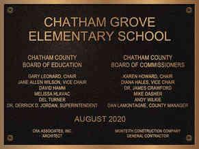 School Dedication Plaque