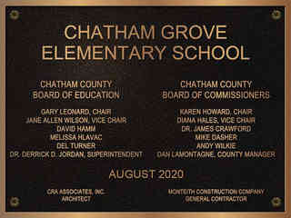 School Dedication Plaque