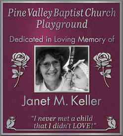 Church Playground Dedication Plaque with Custom Graphics