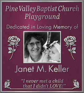 Church Playground Dedication Plaque with Custom Graphics