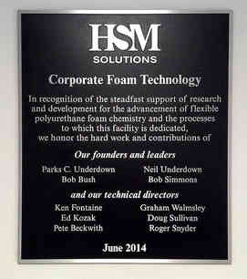 Corporate Entrance Dedication Wall Plaque