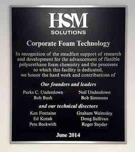 Corporate Entrance Dedication Wall Plaque