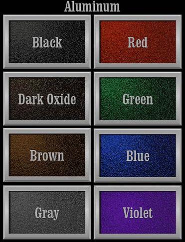 Aluminum Plaque Background Colors 04-14-