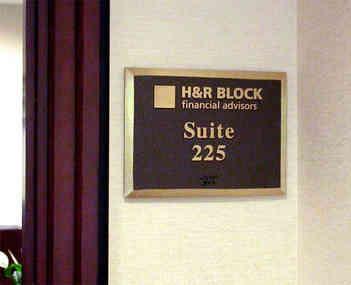 Office Suite Number Plaque