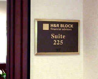 Office Entrance Suite Number Plaque