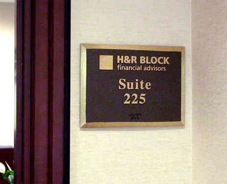 Office Suite Number Plaque