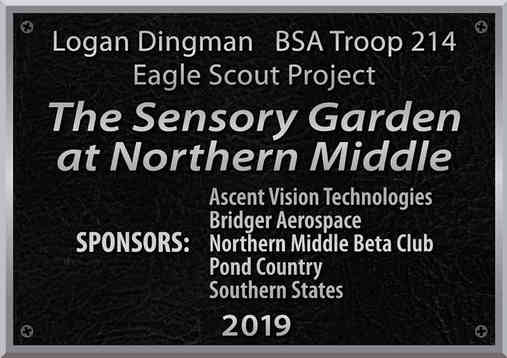 Eagle Scout Project Plaque with Sponsor Names