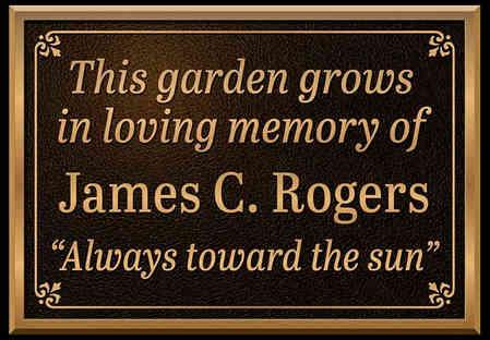 Memorial Garden Plaque on Post