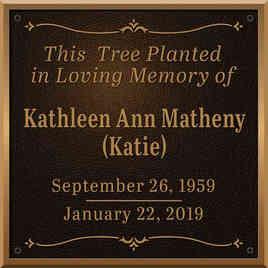 Personalized Tree Memorial Plaque